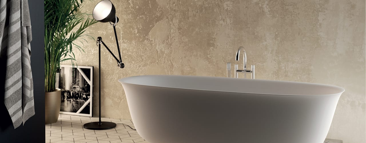 Progettazione e Realizzazione Vasche Free Standing Aquaforte Technological Surface BagnoVasche & Docce Bianco