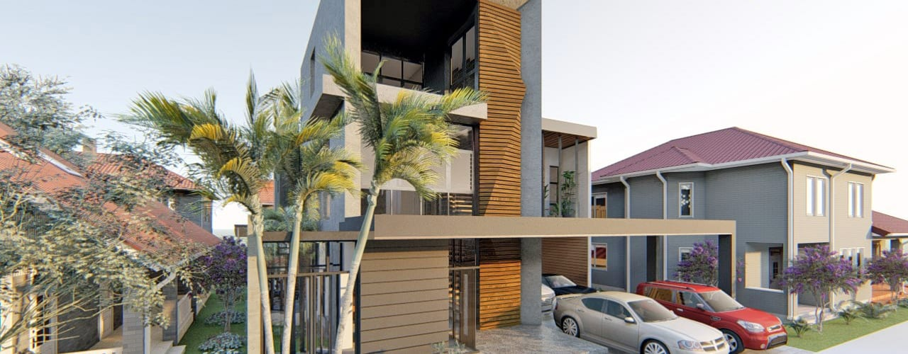 Modern 3-Storey Residence with Roof Deck by Structura Architects Modern