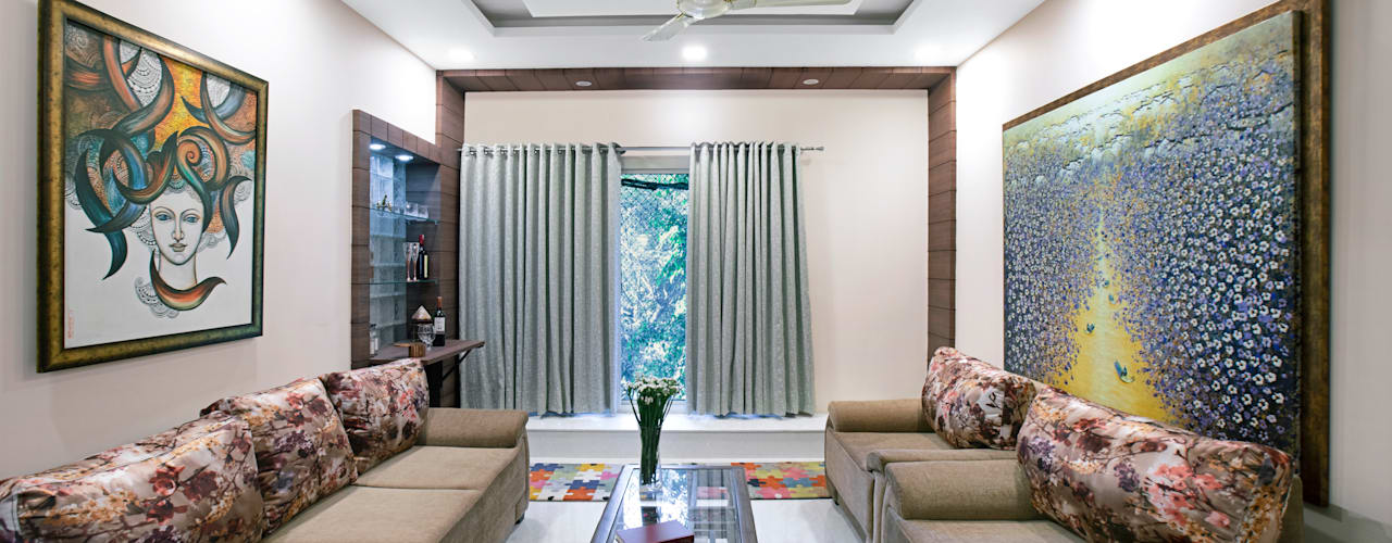 An Art Lover's Contemporary Home in New Delhi: modern  by Orizzonte Interiors Private Limited,Modern