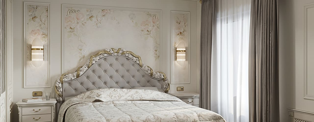 В СТИЛЕ НЕОКЛАССИКА Спальня в классическом стиле от Amadeus Классический