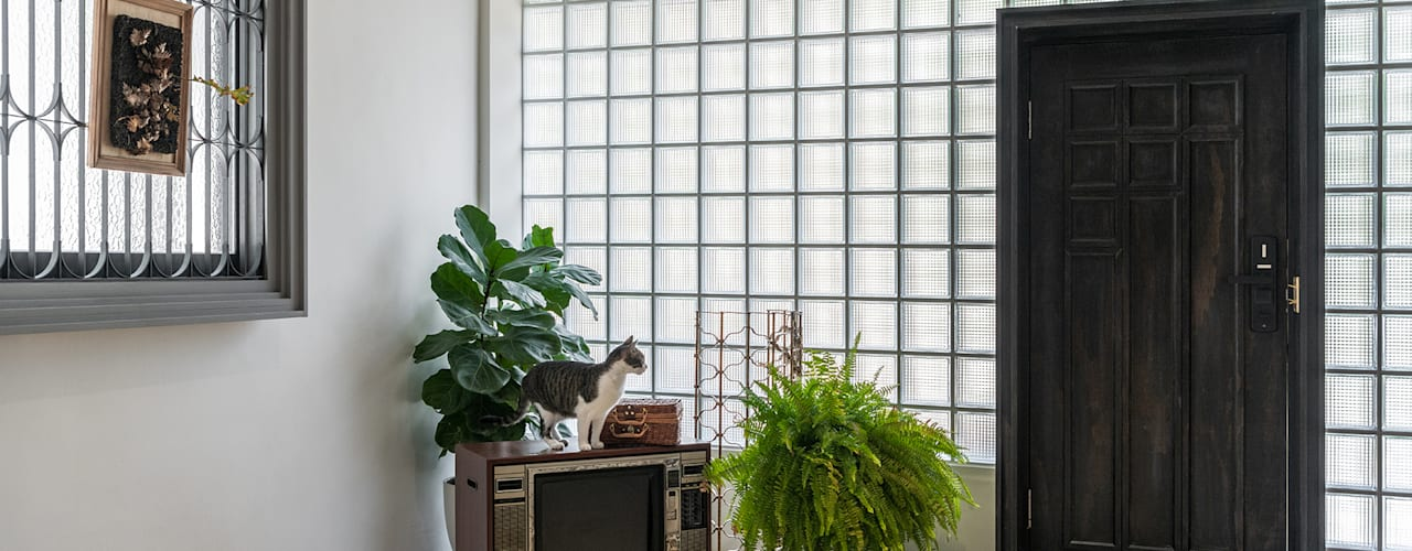美味影像攝影棚 漢玥室內設計 客廳 玻璃 Transparent
