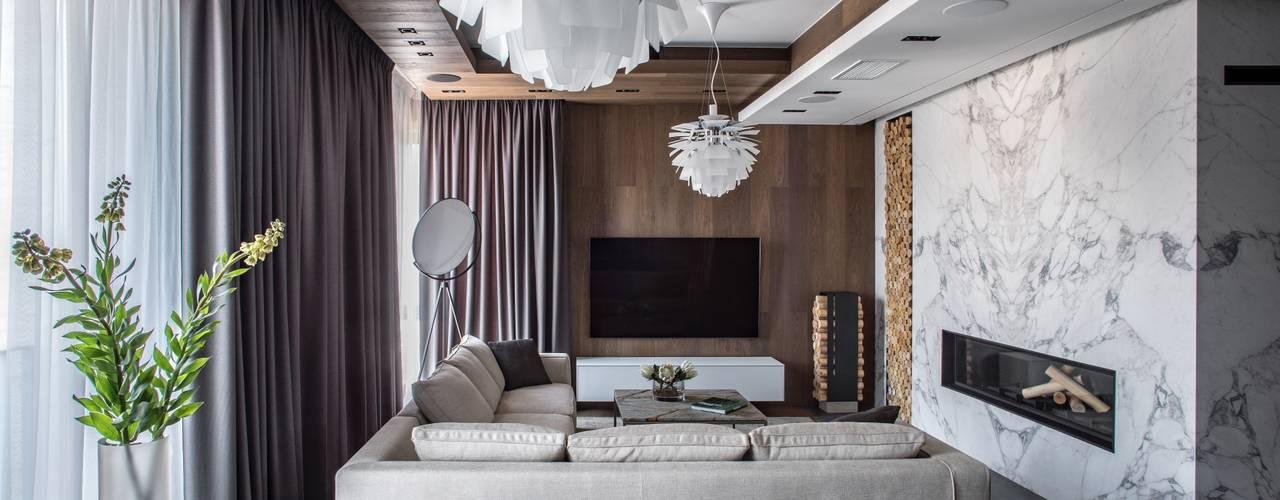 Квартира с видом на Хамовники, 146 м2 от Архитектор Татьяна Стащук