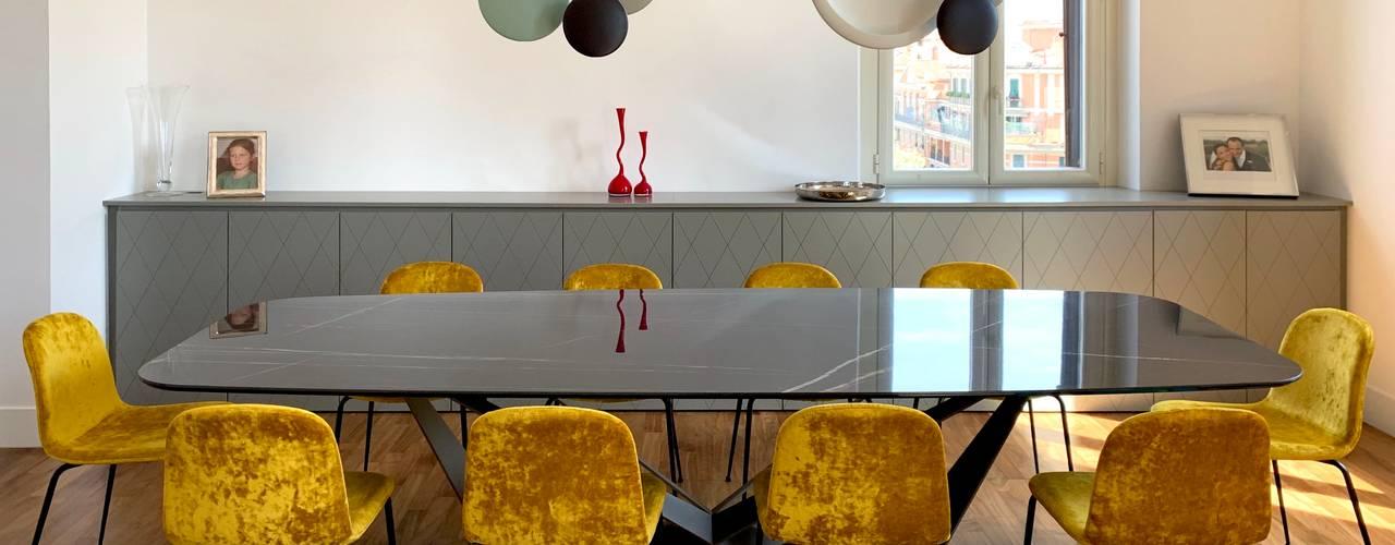 Casa Chiana Sala da pranzo moderna di Arabella Rocca Architettura e Design Moderno