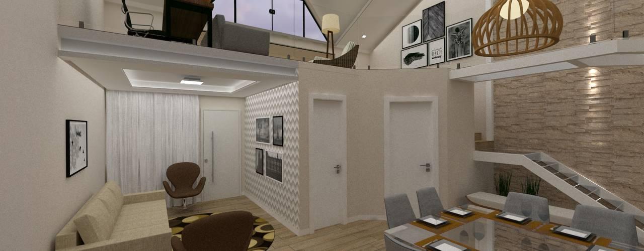 Reforma de Casa Geminada Salas de jantar modernas por Danilo Rodrigues Arquitetura Moderno