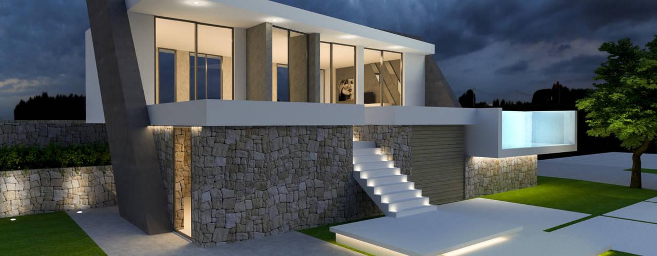 Vivienda unifamiliar aislada con piscina. de Barreres del Mundo Architects. Arquitectos e interioristas en Valencia. Moderno