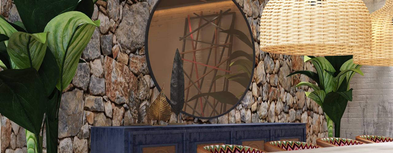Ethnic House Rustik Oturma Odası Derya Bilgen Rustik