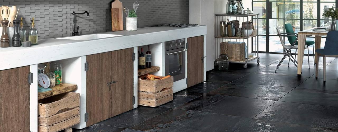 Piastrelle Serenissima - La Collezione COSTRUIRE (metallo e argilla) Cucina eclettica di Dimensione Edilizia Eclettico