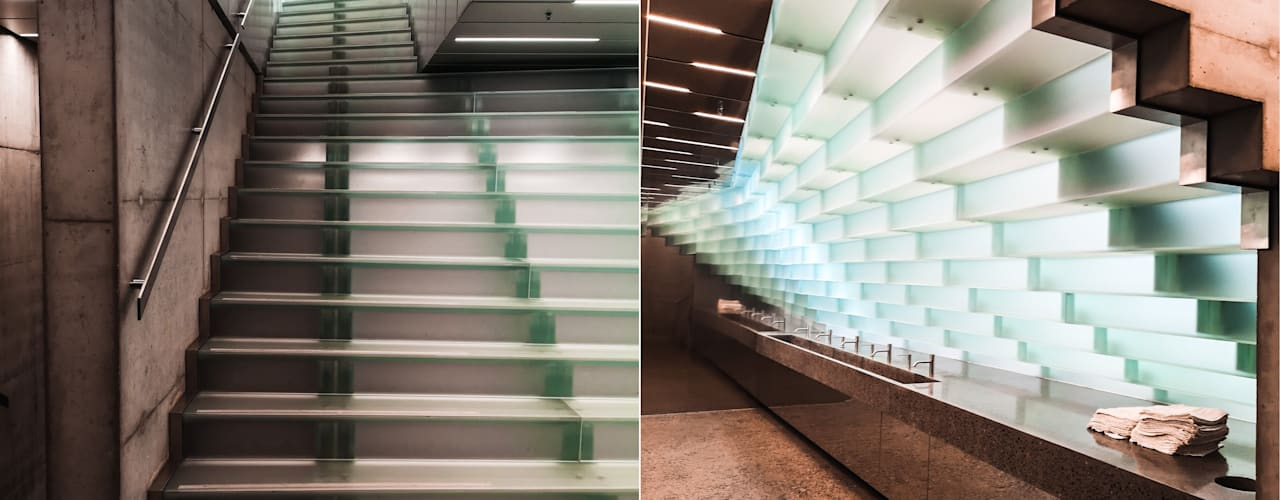Glas-Fan Siller Treppen/Stairs/Scale Moderne Museen Glas Transparent