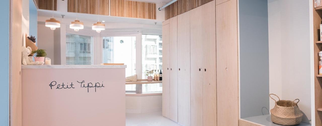 S.Lo Studio Minimalist offices & stores Plywood Pink