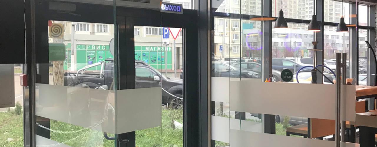 Двери и перегородки ресторан БУРГЕР КУЛЬТ от СТЕКЛОВИЧ Модерн
