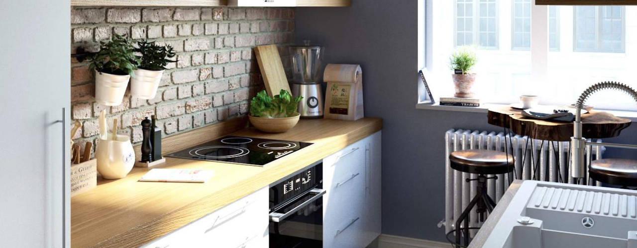 Küchenprojekt und Wohnungseinrichtung Skandinavischer Stil mit Naturtönen und natürlichen Materialien Lux-Design-Living Einbauküche Holz Weiß