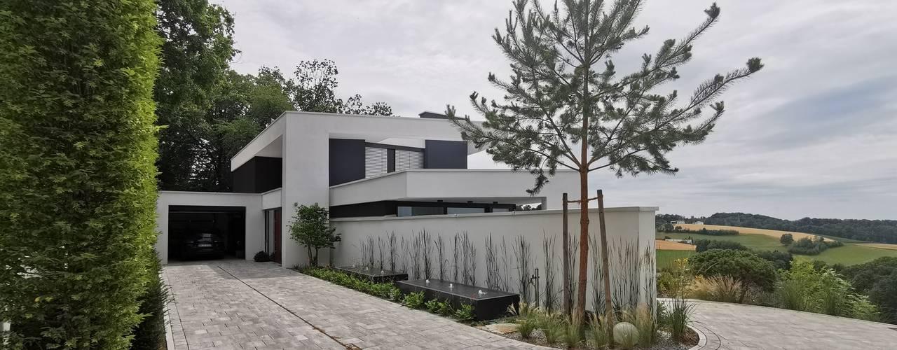 Gebogene Hangvilla in Deckendorf von Avantecture GmbH Modern