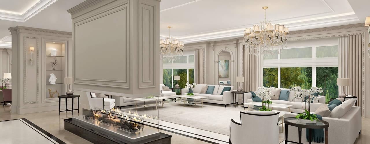 German Village - Sulaymaniyah / Iraq Sia Moore Archıtecture Interıor Desıgn Classic style living room