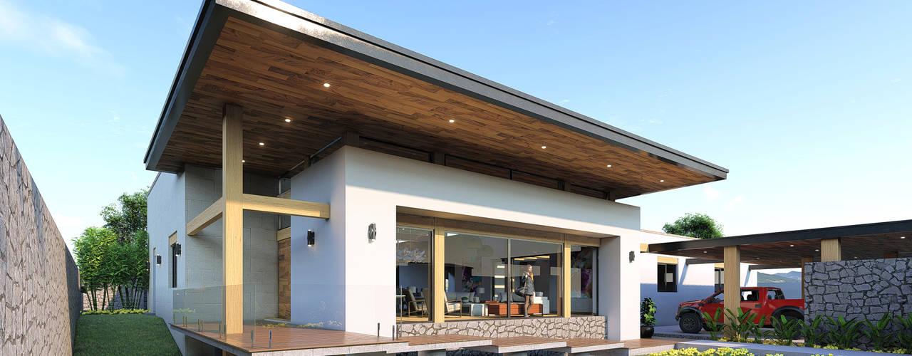 Residencia con diseño Contemporáneo Merarki Arquitectos Casas modernas