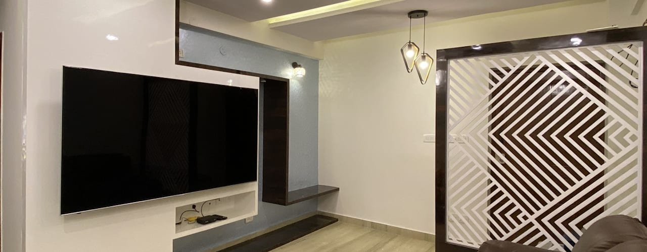 Dr. Smita's Residence, Hoysala Landmark: modern  by U and I Designs,Modern