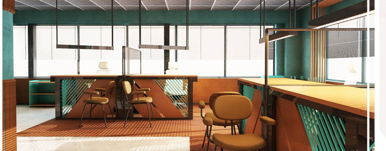 Kut İç Mimarlık Rustic style study/office Wood Wood effect