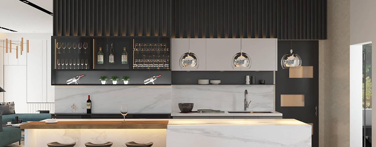 Mr Khor Bungalow, Setia Eco Park Norm designhaus Modern style kitchen