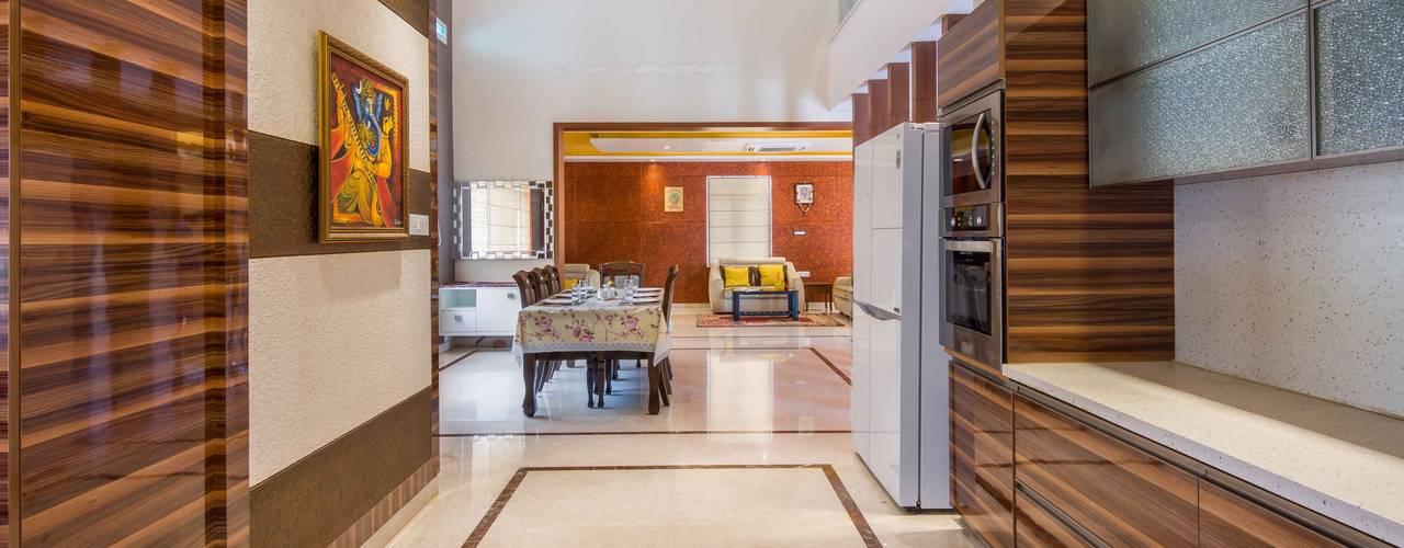 Manjunath Villa evolve architects Modern kitchen