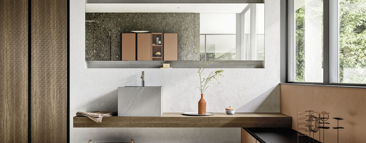 Arredo bagno in stile minimale Meka Arredamenti Bagno minimalista