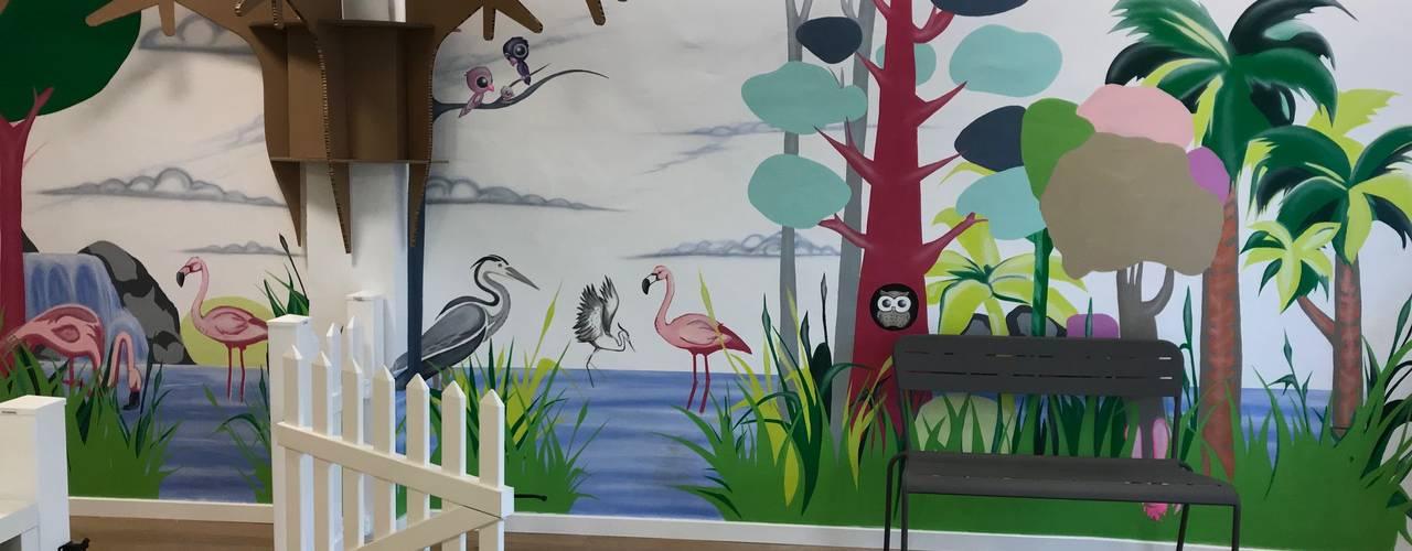 Diseño Interior de Área Infantil Escuelas de estilo moderno de A interiorismo by Maria Andes Moderno