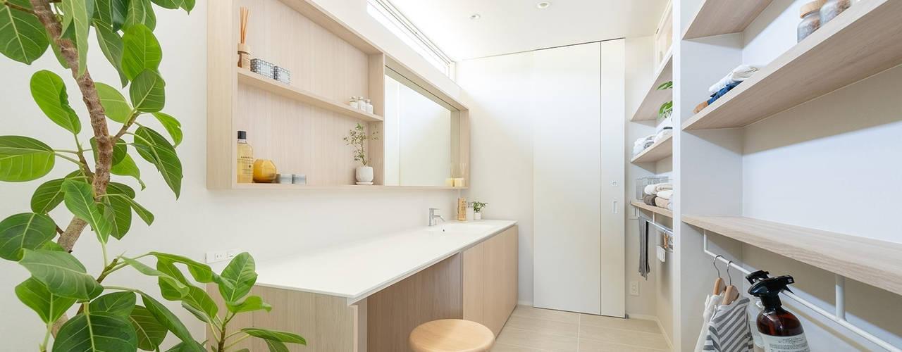 KOKORO MODEL 2019 FANFARE CO., LTD 北欧スタイルの お風呂・バスルーム