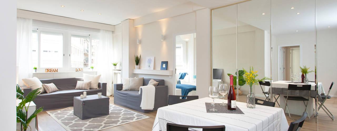 Home Staging en vivienda vacía Comedores de estilo escandinavo de Lala Decor Home Staging y Reformas Integrales de pisos Escandinavo