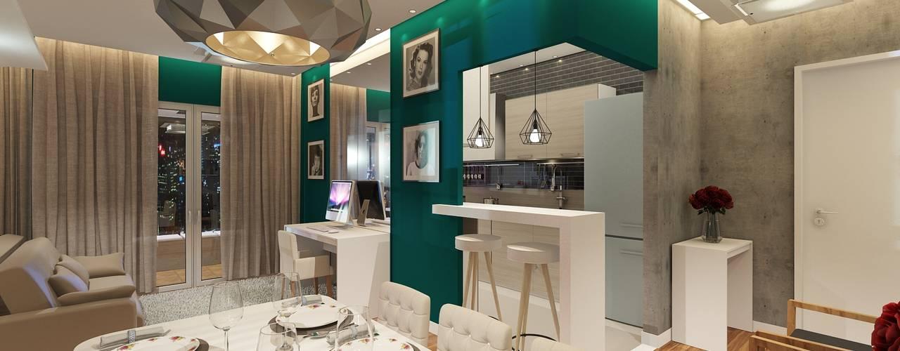 Ruang Makan Modern Oleh Paulo Rodrigues Decoração & Design Modern