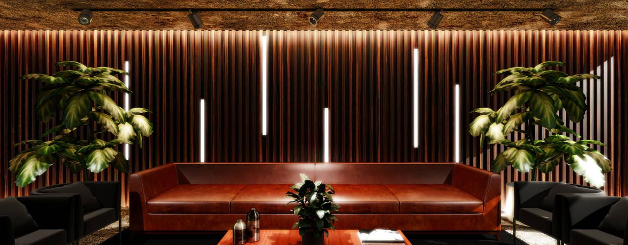 Paulo Rodrigues Decoração & Design Study/office Engineered Wood Wood effect