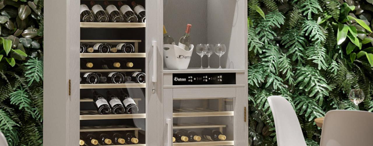 Cantinette Vino in Legno Cantina moderna di Datron   Cantinette vino Moderno