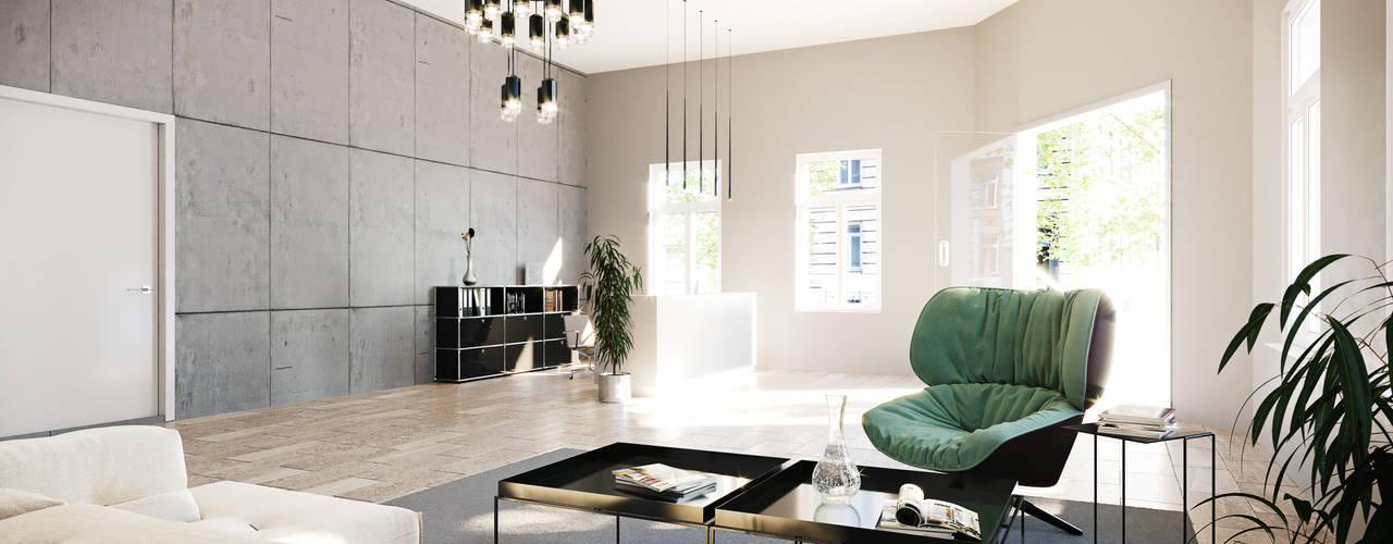 Aus Eckbüro wird Empfangsbereich Moderne Bürogebäude von Kaldma Interiors - Interior Design aus Karlsruhe Modern