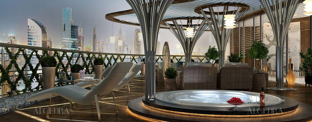 تصميم داخلي لبنتهاوس في دبي من Algedra Interior Design حداثي