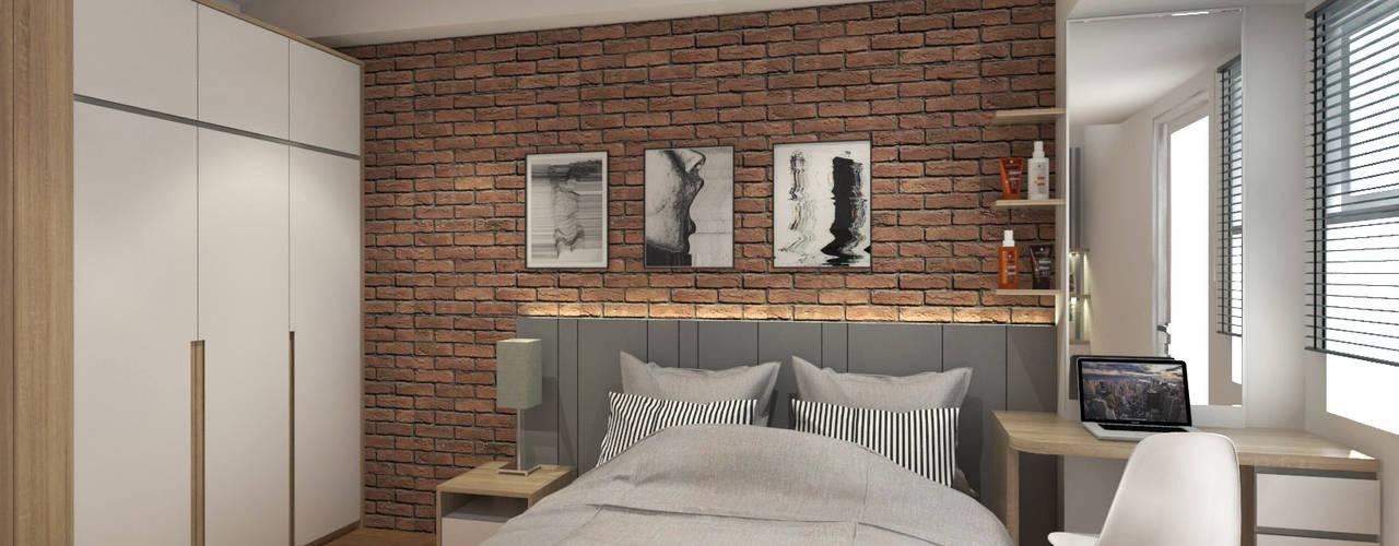 Unit Apartemen Parahyangan Residence Kamar Tidur Minimalis Oleh unimony.id Minimalis