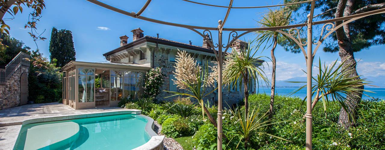 Luciano Caprini Garden Designer Kolam renang halaman