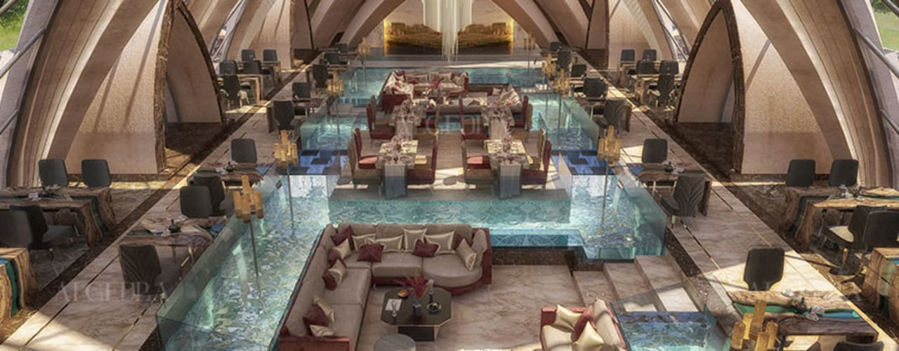 تصميم داخلي لمطعم إيطالي من Algedra Interior Design حداثي