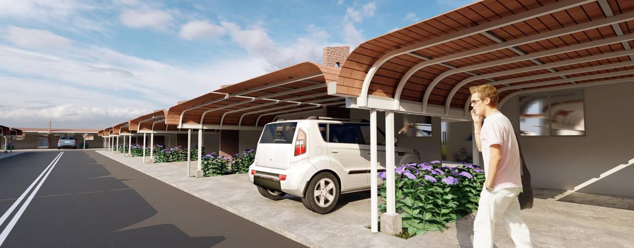 Criação de Cobertura para Garagem - Condomínio Amazônia por Joede Barbosa - Arquitetura e Interiores
