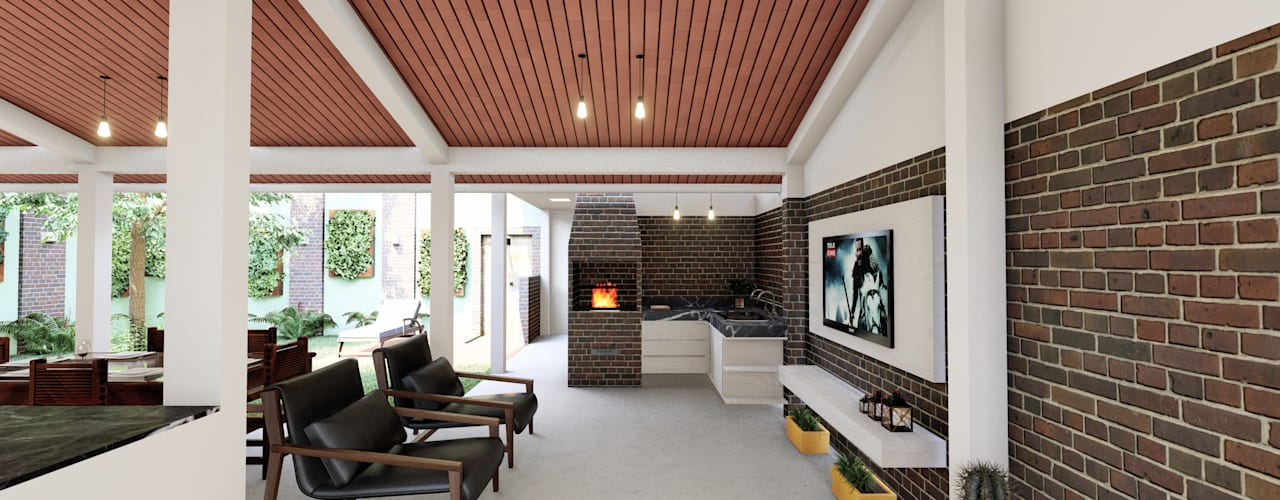 Área Lazer Kely Cristina por Joede Barbosa - Arquitetura e Interiores