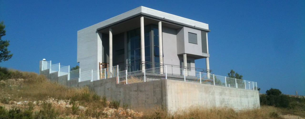 OBRA NUEVA: Vivienda Unifamiliar aislada Casas de estilo moderno de OCTANS AECO Moderno