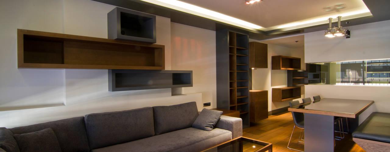 Apartamento en Sagrada Familia MANUEL TORRES DESIGN Salones de estilo ecléctico Madera Gris