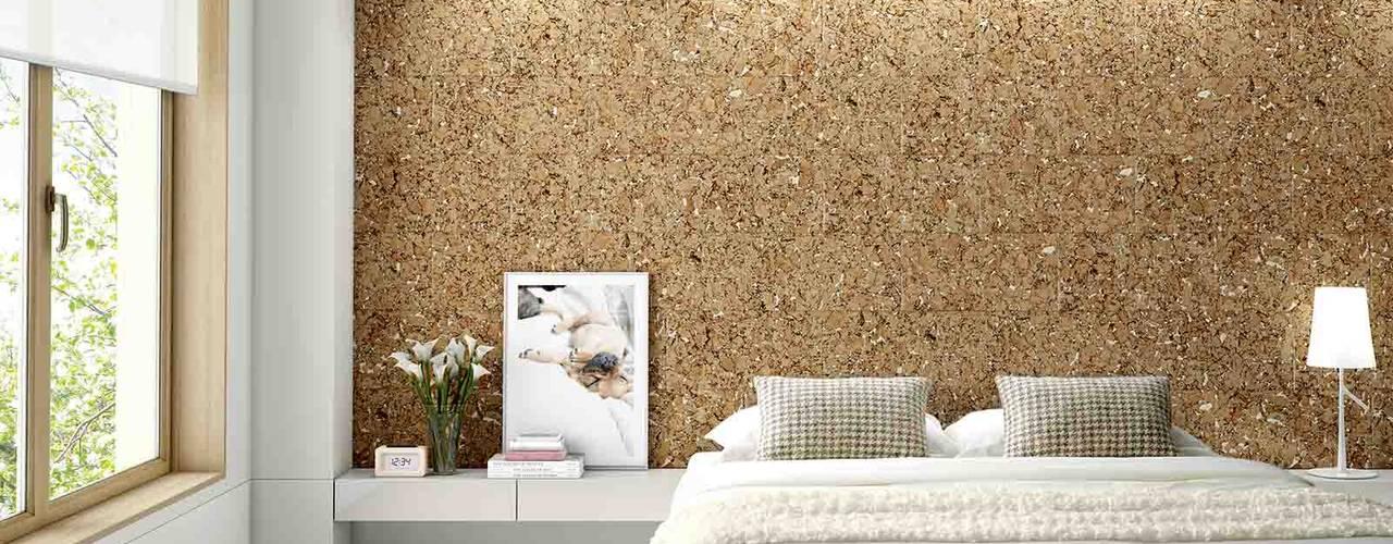 Biosughero, la scelta naturale. Biosughero Camera da letto in stile mediterraneo Sughero Beige
