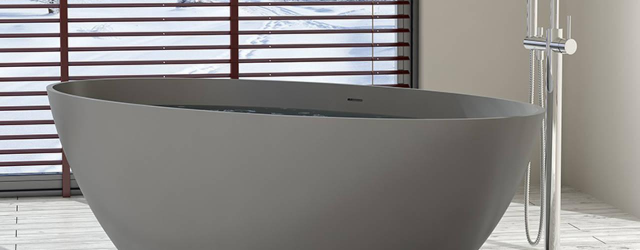 Schwarze und graue Mineralguss Badewannen von Badeloft GmbH - Hersteller von Badewannen und Waschbecken in Berlin