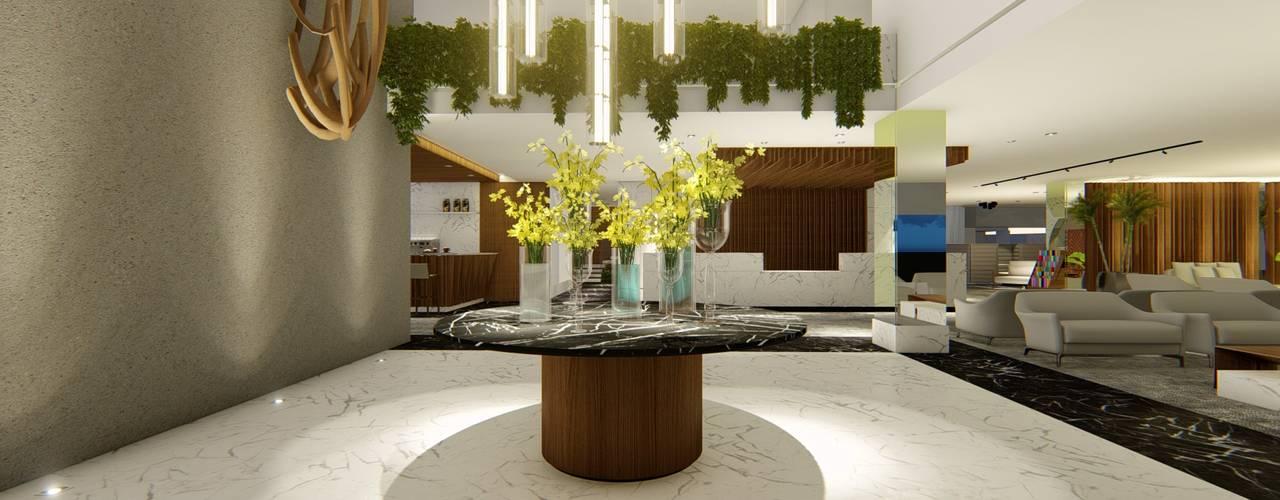 HOTEL URBANO | Maputo - Moçambique | África Hotéis modernos por Arquitetura Sônia Beltrão & associados Moderno