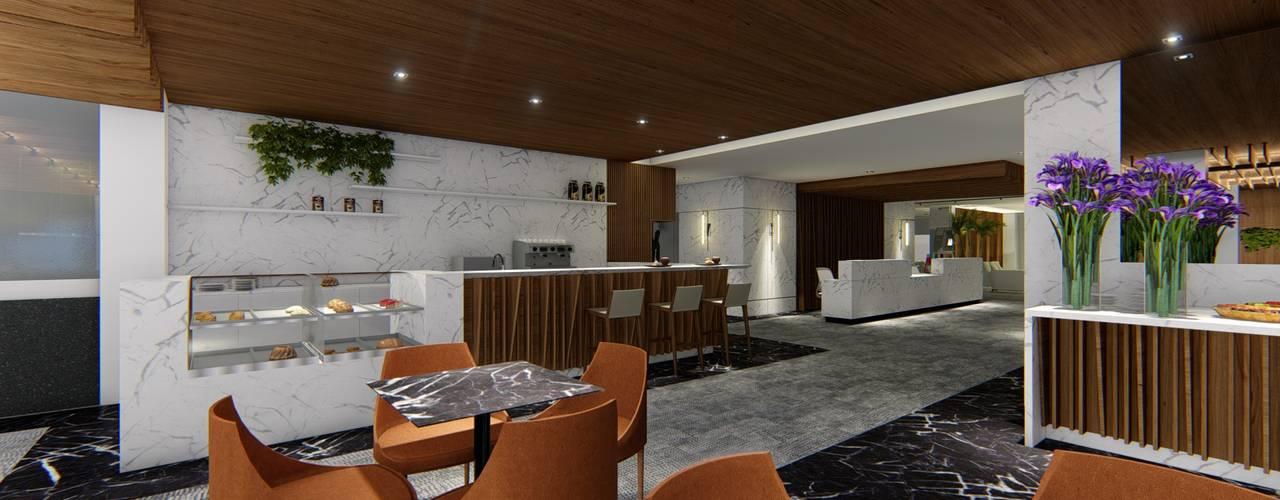 HOTEL URBANO | Maputo - Moçambique | África Arquitetura Sônia Beltrão & associados Hotéis modernos MDF Efeito de madeira