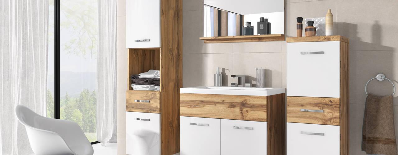 Meble łazienkowe Meble Minio ŁazienkaSzafki i półki łazienkowe Płyta wiórowa O efekcie drewna