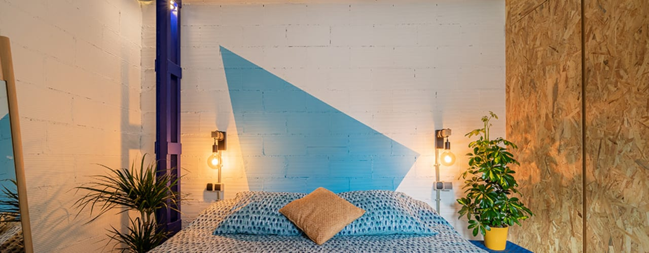 Reforma Integral de Piso en Madrid Dormitorios de estilo industrial de OOIIO Arquitectura Industrial