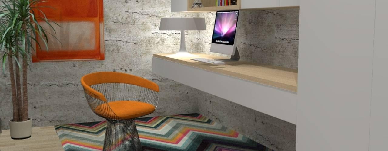 Escritório em casa contêmporanea por 7eva design - Arquitectura e Interiores