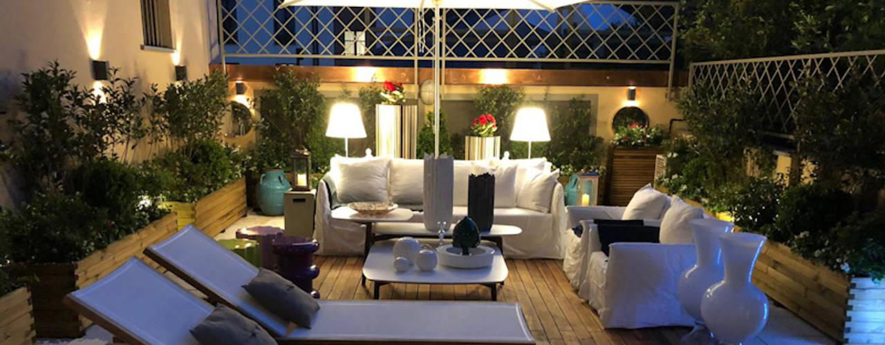casa pura Frangivista in Legno Giardino Balcone 100x500 cm terrazzo
