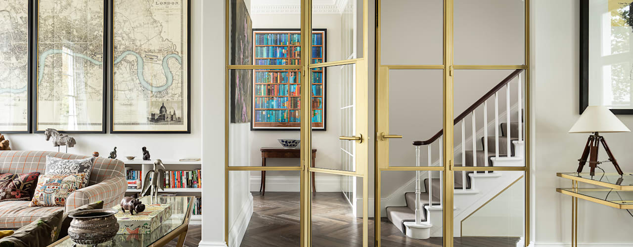 Northbourne House EMR Architecture Eclectic style corridor, hallway & stairs