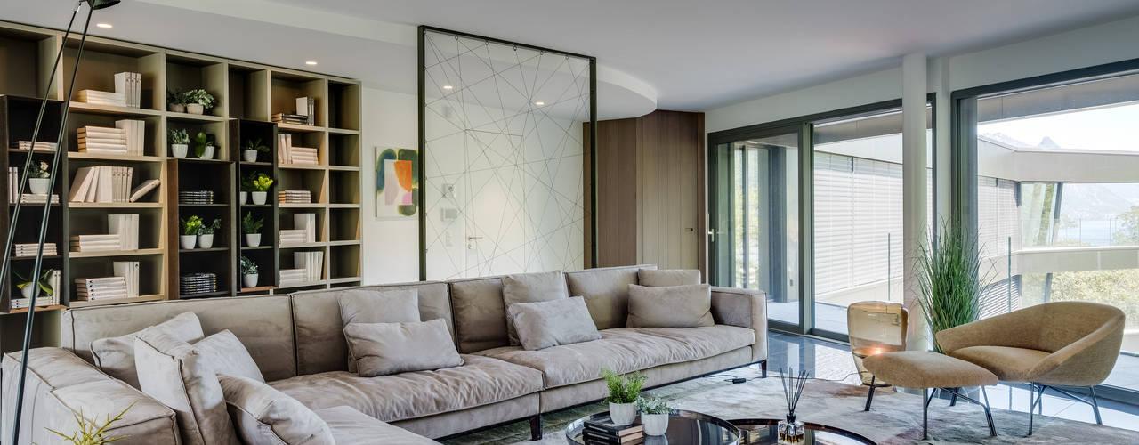 Portfolio interni - architettura Pixelmakers - Paolo Soave Soggiorno moderno
