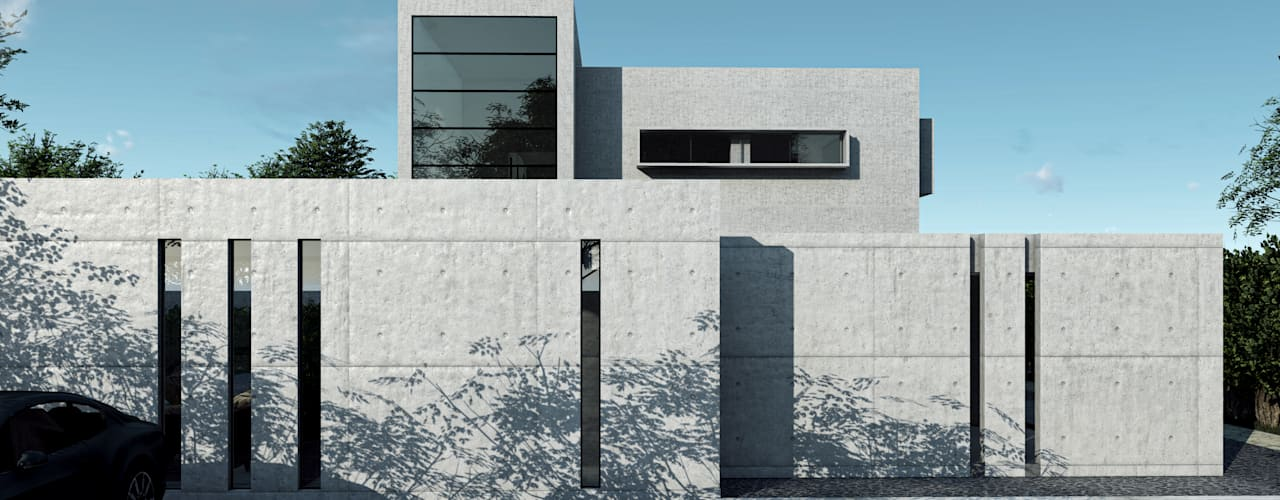 Vivienda en San Carlos de Apoquindo Casas estilo moderno: ideas, arquitectura e imágenes de Olguin Arquitectos Moderno