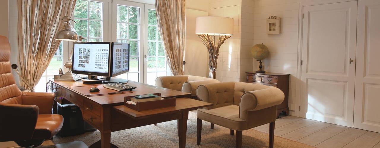 villa landelijke stijl antwerpen Klassieke studeerkamer van Marcotte Style Klassiek